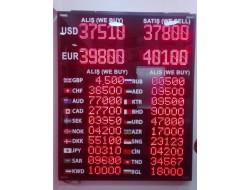 105x140 CM LED DÖVİZ FİYAT KUR PANOSU