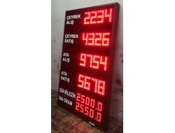 110x65 CM KUYUMCU DÖVİZ ALTIN FİYAT PANOSU