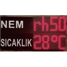 32x64 CM LED NEM SICAKLIK GÖSTERGESİ