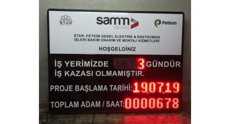 100x130 CM İŞ KAZA GÖSTERGE PANOSU