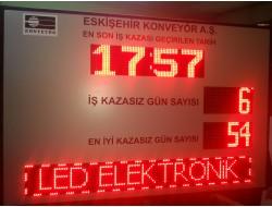 100x140 CM LED İŞ GÜVENLİK KAZA PANOSU
