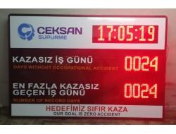100x150 CM LED DİJİTAL KAZASIZ İŞ GÜNÜ PANOSU