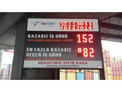 100x150 CM LED İŞ KAZA BİLGİ PANOSU