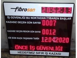125x150 CM LED İŞ GÜVENLİK PANOSU