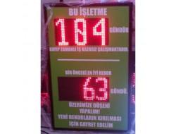 45x80 CM LED İŞ GÜVENLİK PANOSU