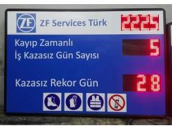 80x110 CM LED İŞ KAZA GÜVENLİK PANOSU