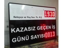 80x120 CM LED İŞ KAZA GÜVENLİK BİLGİ PANOSU