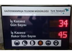 80x120 CM LED İŞ GÜVENLİK BİLGİ PANOSU