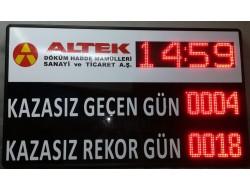 80x120 CM LED İŞ GÜVENLİK GÖSTERGE PANOSU