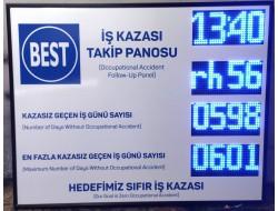 95x120 CM LED İŞ KAZA BİLGİLENDİRME PANOSU