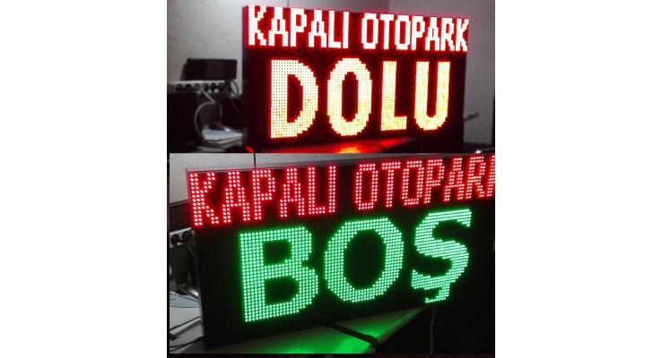 48x96 CM LED OTOPARK BOŞ DOLU PANOSU