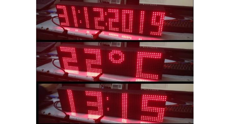 16x64 CM LED SAAT TARİH DERECE