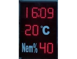 40x60 CM LED SAAT DERECE NEM GÖSTERGESİ
