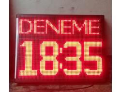 48x64 CM LED SAAT DERECE KAYAN YAZILI